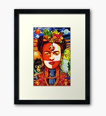 Inside the Mind of Frida Kahlo Framed Print