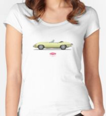 Jaguar E Type Roadster Primrose Women's Fitted Scoop T-Shirt