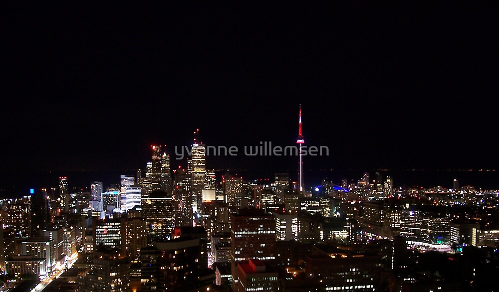 Toronto at night by yvonne willemsen