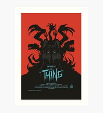 The Thing Classic Retro Poster Art Print