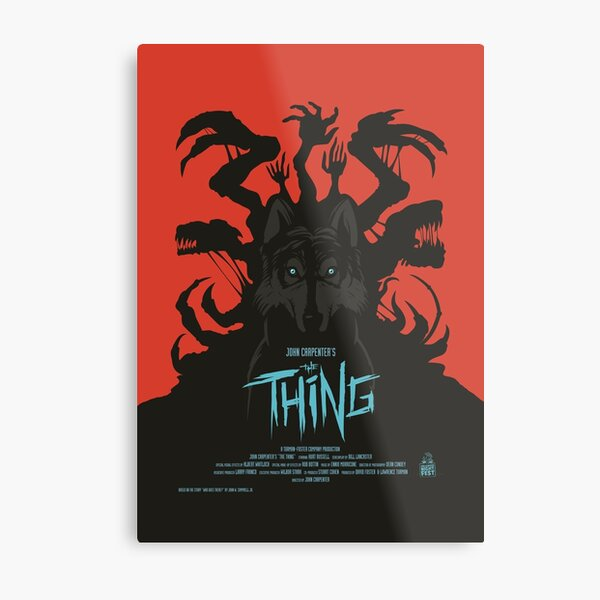 The Thing Classic Retro Poster Metal Print