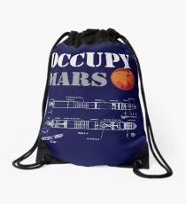 Occupy mars Drawstring Bag
