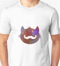 Hipster Cat Galaxy Design Unisex T-Shirt