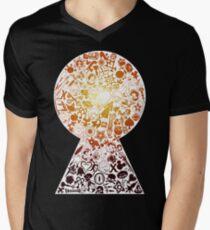 Kingdom Hearts - Keyhole (orange) V-Neck T-Shirt