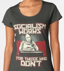 e2fff808 Socialism Doesnt Work Conservative Design Premium Scoop T-Shirt