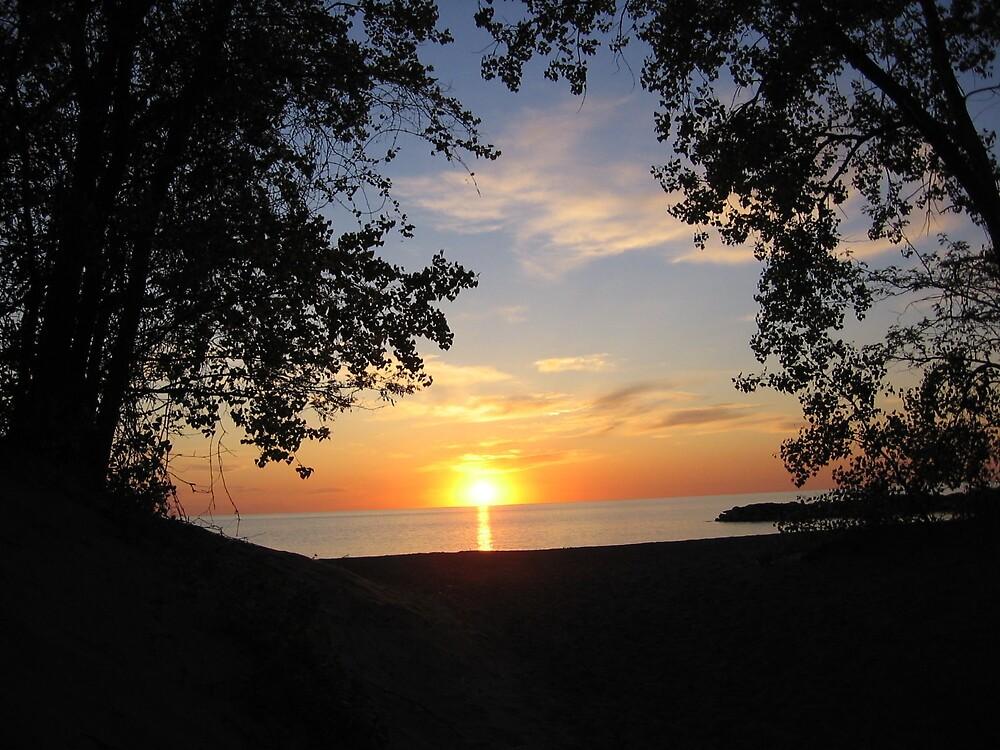 Sunset Lake Erie  Presque Isle  Erie, PA by gwensgems668