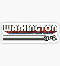 Pegatina Washington, DC | Rayas retro