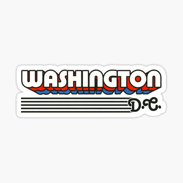Washington, DC | Retro Stripes Sticker