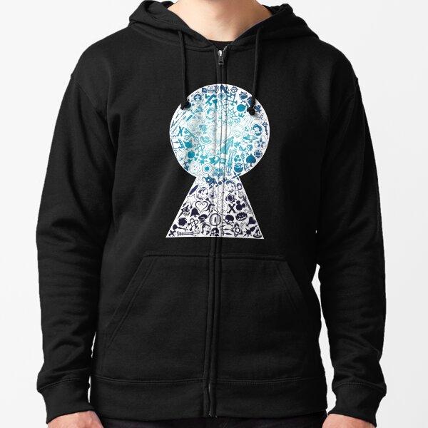 Kingdom Hearts - Trou de serrure (bleu) Veste zippée à capuche