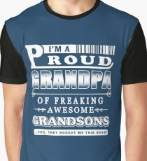 I'm a Proud Grandpa of freaking Awesome Grandsons Graphic T-Shirt