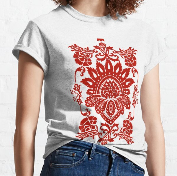 Damask in red Classic T-Shirt
