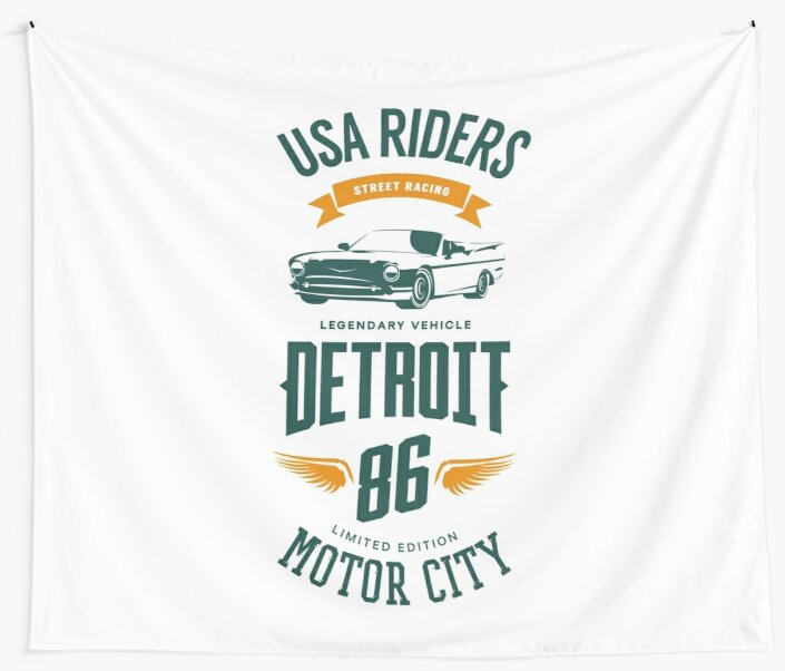 Detroit Motor City Retro Vintage by Sven Horn