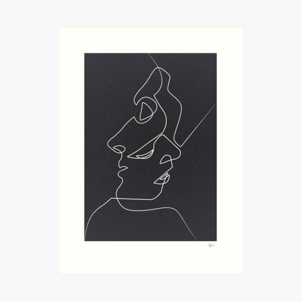 Close Black Art Print