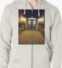 Street, City, Buildings, Photo, Day, Trees, New York, Manhattan, Brooklyn Zipped Hoodie