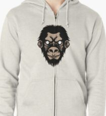 Planet of apes Zipped Hoodie