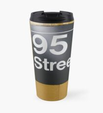 Street, City, Buildings, Photo, Day, Trees, New York, Manhattan, Brooklyn Travel Mug