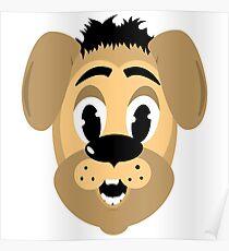cartoon style dog head Poster
