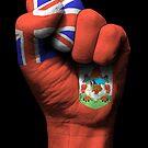 Flagge von Bermuda auf einer angehobenen geballten Faust von jeff bartels