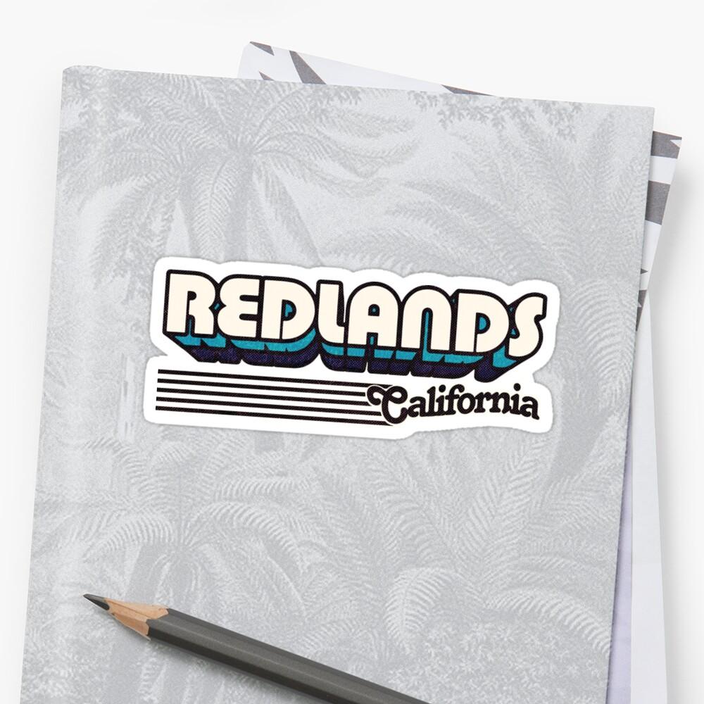 Redlands, California | Retro Stripes by retroready