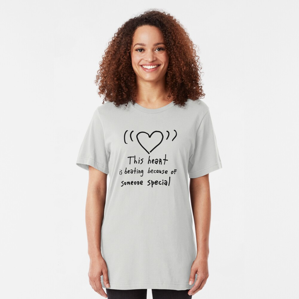 This heart is beating Slim Fit T-Shirt