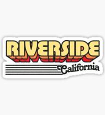 Riverside, California | Retro Stripes Sticker
