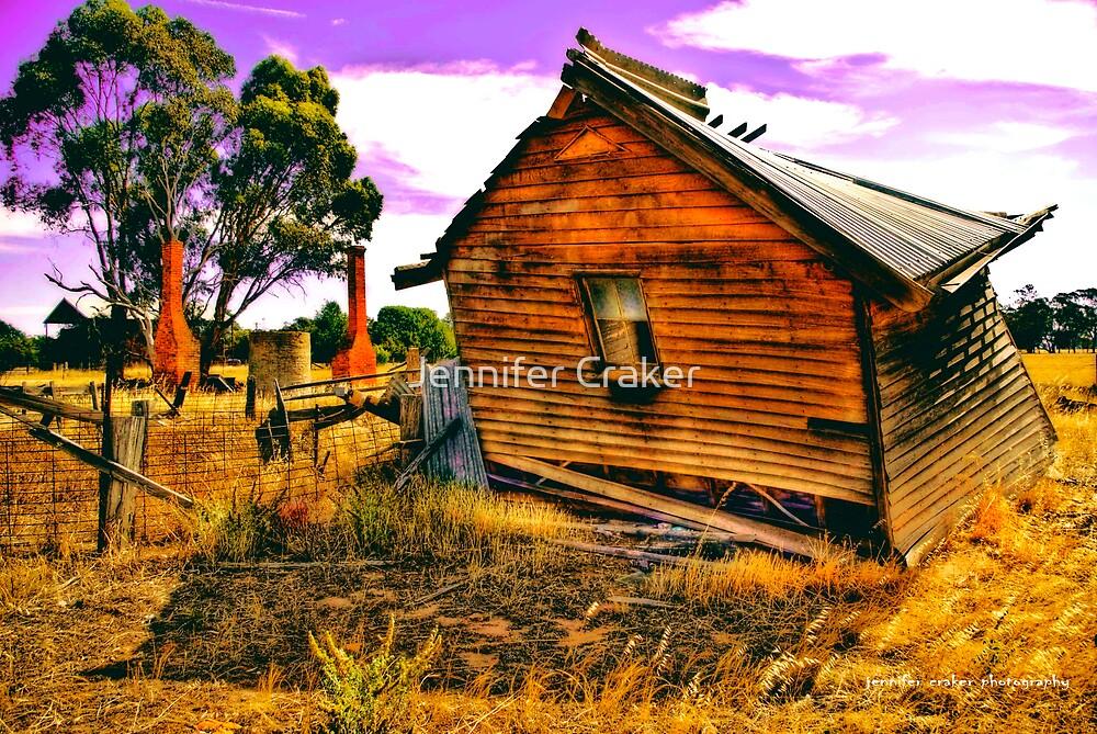 Fallen over schoolhouse V02 by Jennifer Craker