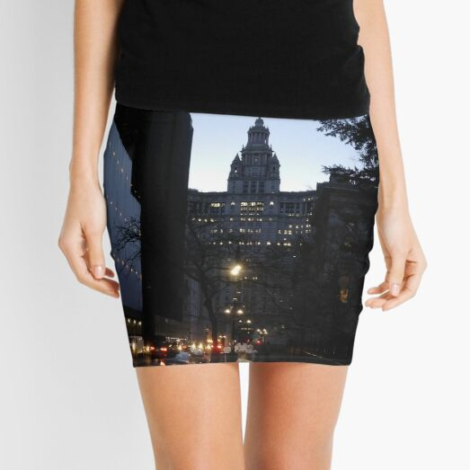 Street, City, Buildings, Photo, Day, Trees, New York, Manhattan, Brooklyn Mini Skirt
