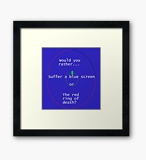 Death is eminent. Framed Print