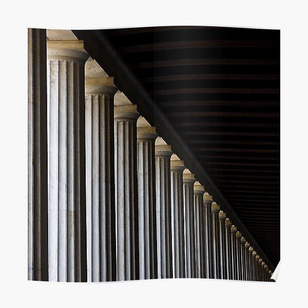 Pillars: Athens, Greece  Poster