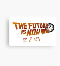 """The Future is Now"" - BTTF Canvas Print"