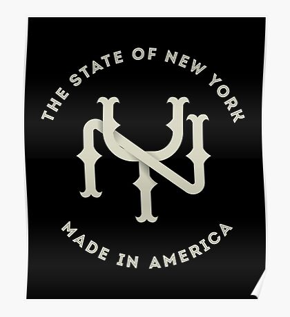 The New York State Monogram NY Poster