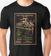 'Irish Canadian Ranger' Vintage Poster (Reproduction) T-Shirt
