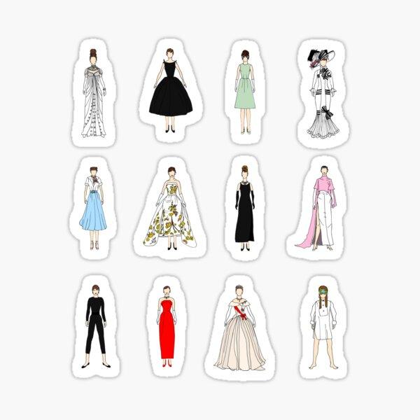 Audrey Dolls and Dresses Sticker