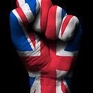 Union Jack auf einer angehobenen geballten Faust von jeff bartels