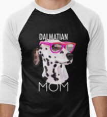 Dalmatian Mom Dog Men's Baseball ¾ T-Shirt