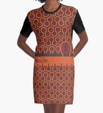 Vestido camiseta El patrón de piso brillante minimalista