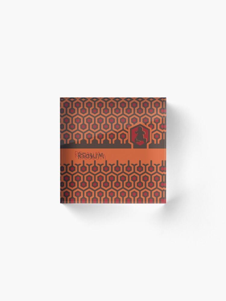 Alternate view of The Shining Floor Pattern Minimalist Acrylic Block