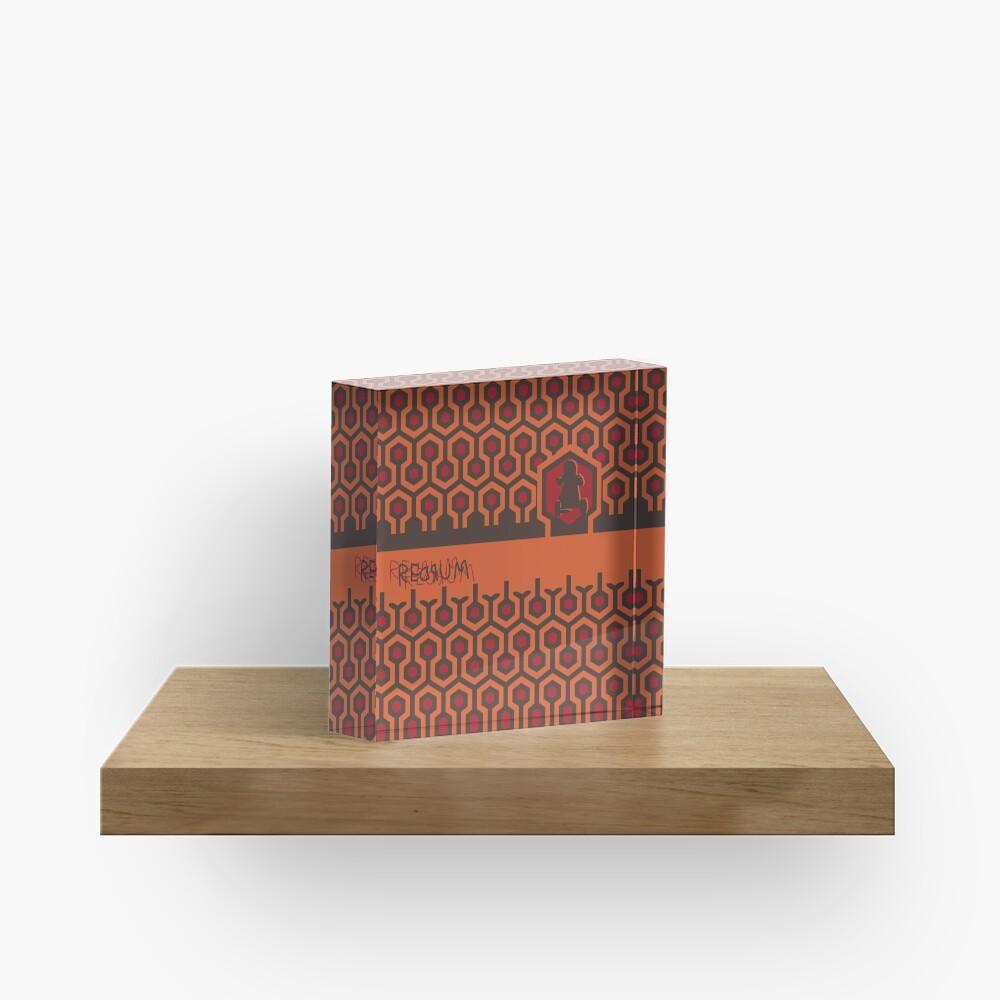 The Shining Floor Pattern Minimalist Acrylic Block