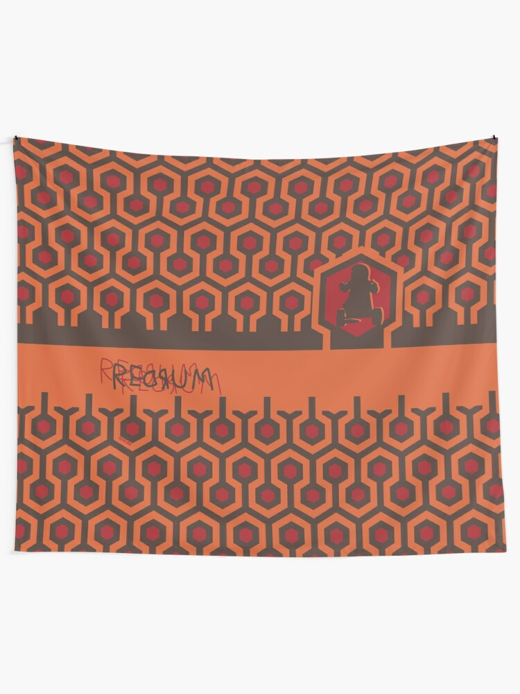 Alternate view of The Shining Floor Pattern Minimalist Tapestry