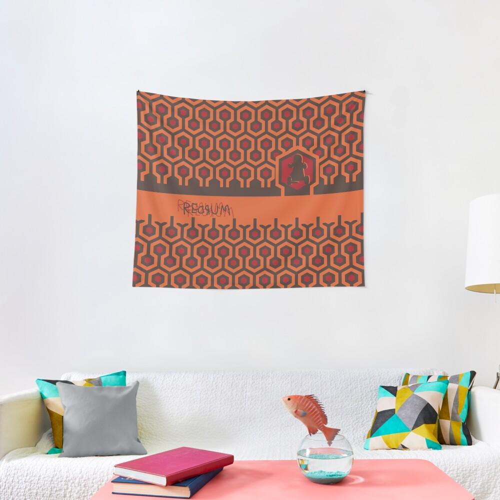 The Shining Floor Pattern Minimalist Tapestry