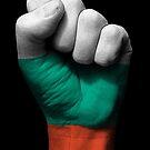 Flagge von Bulgarien auf einer angehobenen geballten Faust von jeff bartels