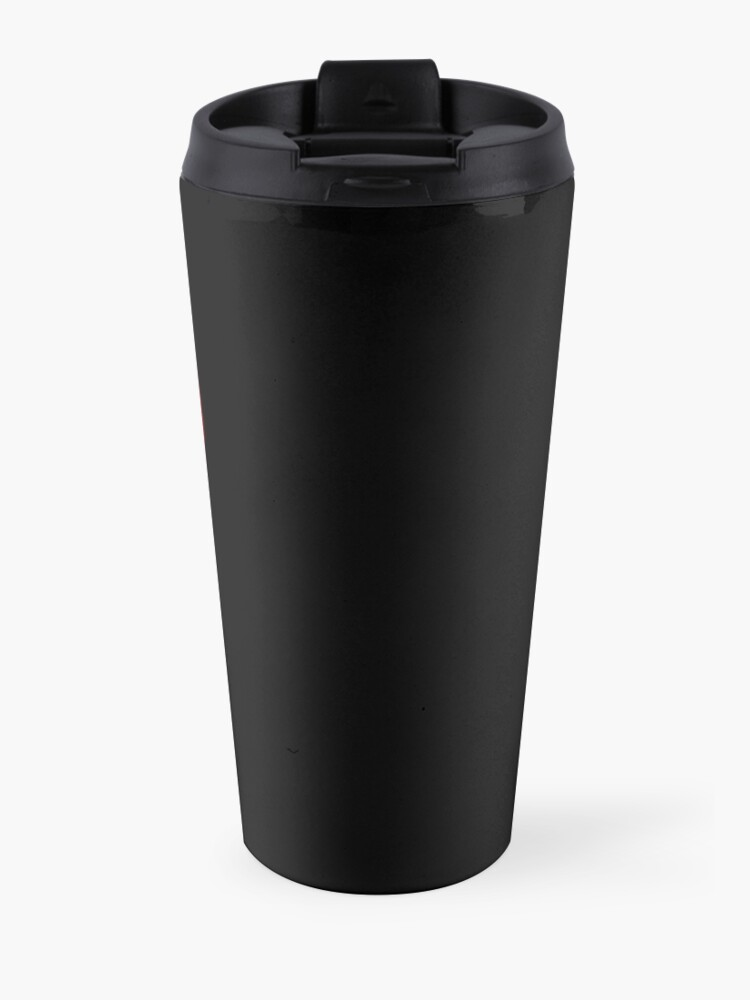 Alternate view of Our Lady of Chaotic Justice Travel Mug