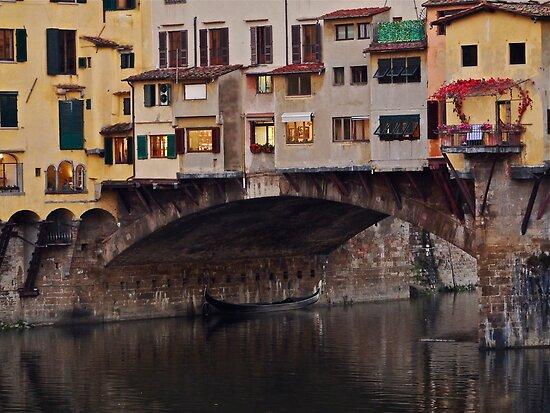 Ponte Vecchio Over the Arno by Rae Tucker