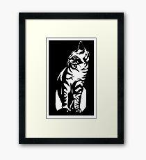 Cat Stencil Framed Print