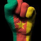Flagge von Kamerun auf einer angehobenen geballten Faust von jeff bartels