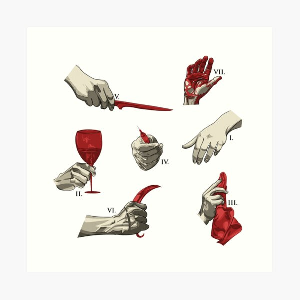 Hannibal Inspired Pattern Art Print