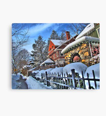 Bright winter day Canvas Print