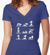 Snoopy - Do Yoga Women's Fitted V-Neck T-Shirt