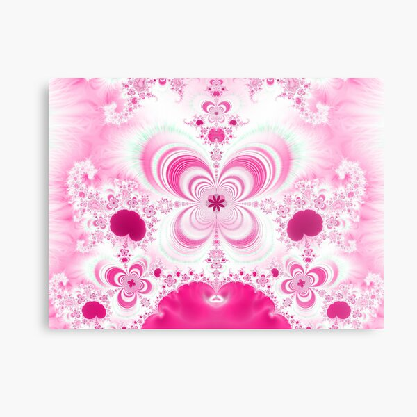 Hearts&Flowers 2 Metal Print