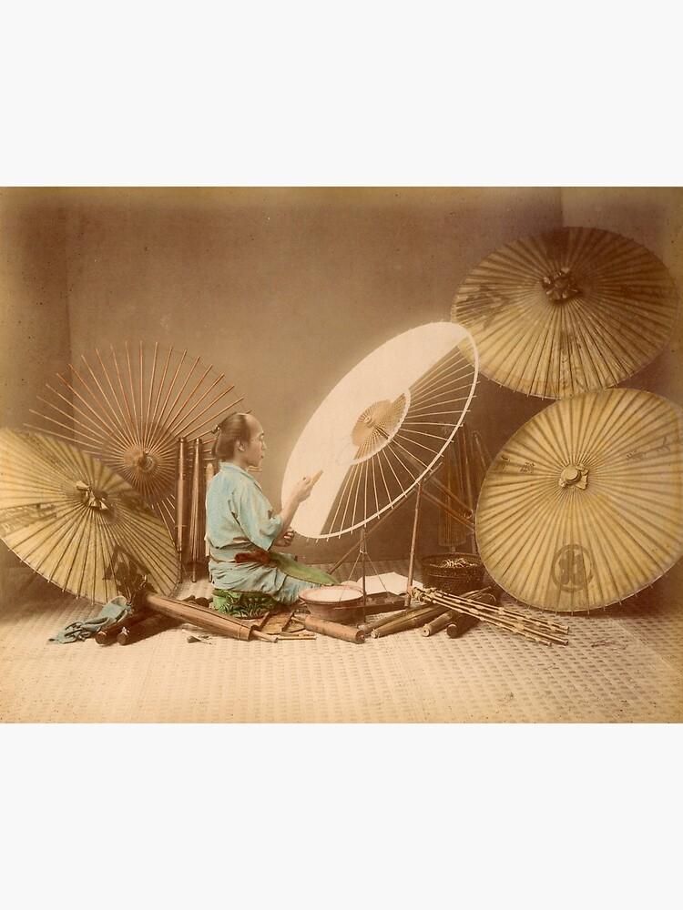 The umbrella maker, 1870s by Fletchsan
